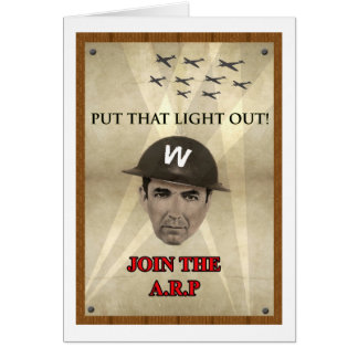 WW2 ARP Recruiting Poster Greeting Card