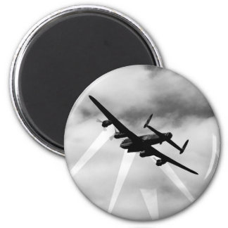 WW2 Avro Lancaster Bomber 6 Cm Round Magnet