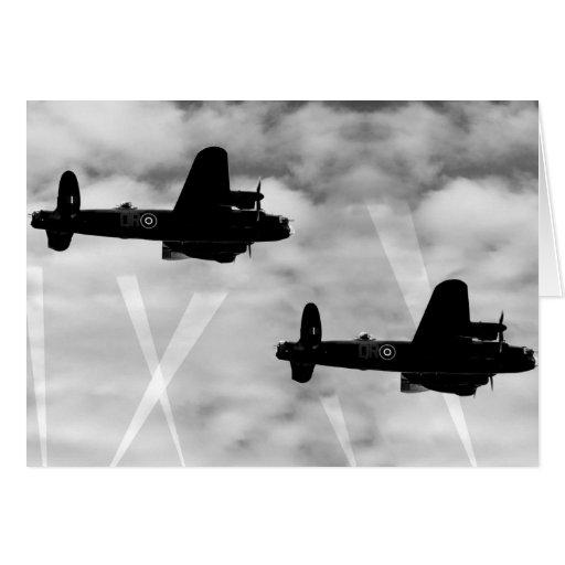 WW2 Avro Lancaster Bomber Greeting Cards
