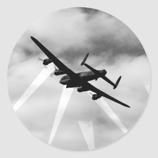 WW2 Avro Lancaster Bomber Round Sticker