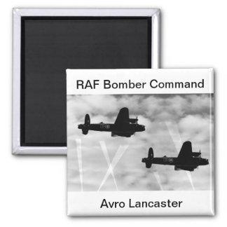 WW2 Avro Lancaster Bomber Square Magnet