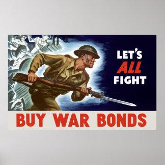 WW2 -- Buy War Bonds Poster