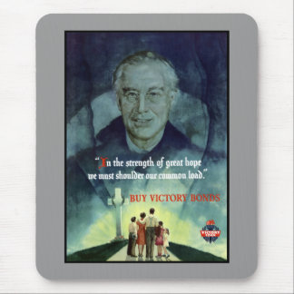 WW2 FDR Quote Poster Mouse Pad
