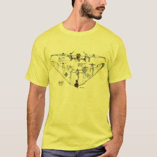 WW2 German Flying Wing Fighter Plane T-Shirt