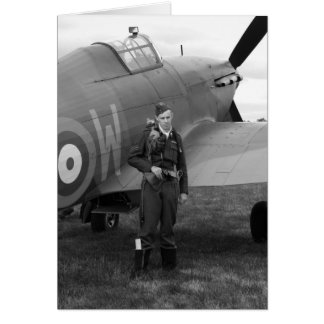 WW2 Hawker Hurricane Plane Card