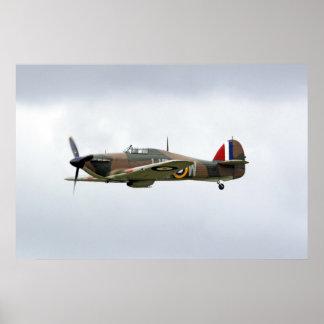WW2 Hawker Hurricane Plane Poster Print
