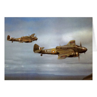 WW2 Historic Airplanes in Flight Greeting Card