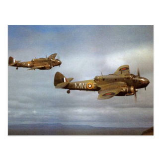 WW2 Historic Airplanes in Flight Postcard