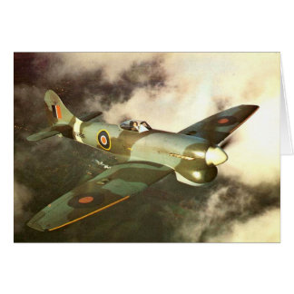WW2 Historic Wartime Aircraft in Flight Card