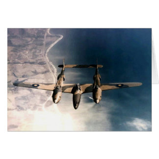 WW2 Historic Wartime Aircraft in Flight Greeting Card