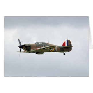 WW2 Hurricane Fighter Plane Card