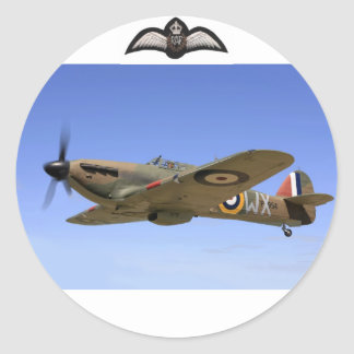 WW2 Hurricane Fighter Plane Classic Round Sticker