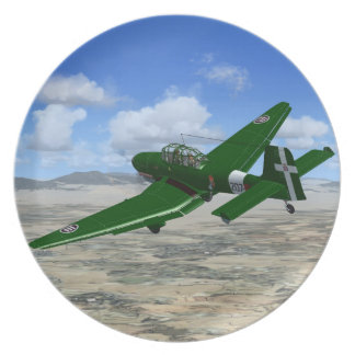 WW2 Junkers JU87 Dive-bomber Plane Plate