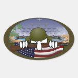 WW2 Kilroy Oval Sticker