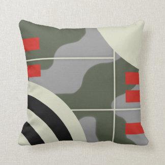 ww2 military plane camouflage throw pillow