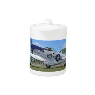 WW2 P51 Mustang Fighter Plane Teapot