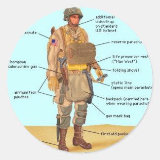 WW2 Paratrooper Sticker