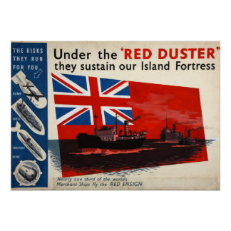 ww2 poster, all about those red dusters poster
