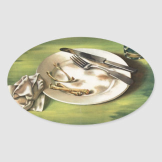 WW2 poster Rationing food is a weapon Oval Sticker