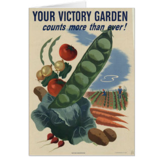 ww2 poster Victory garden Card