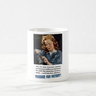 WW2 -- Produce For Victory! Basic White Mug