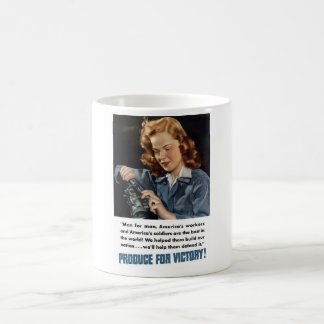 WW2 -- Produce For Victory! Coffee Mug
