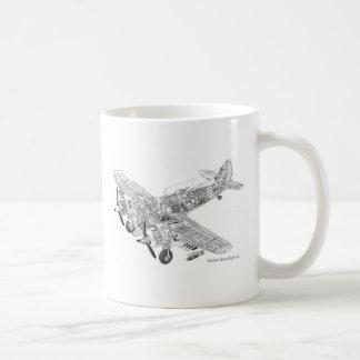 WW2 RAF Bristol Beaufighter Cutaway Coffee Mug