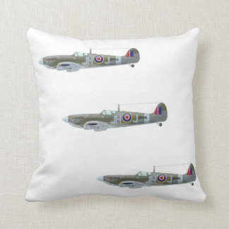 WW2 RAF Spitfire Fighter Plane Pillow