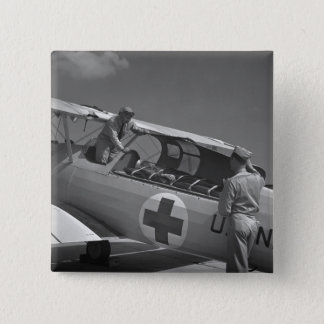 WW2 Red Cross Airplane 15 Cm Square Badge