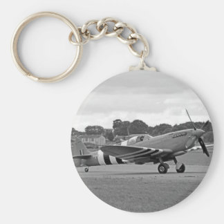 WW2 Spitfire Fighter Plane Keychain
