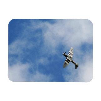 WW2 Spitfire in a Summer Sky Rectangular Photo Magnet