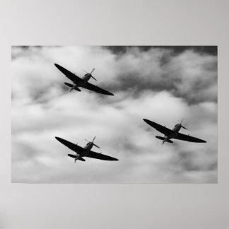 WW2 Spitfire Poster