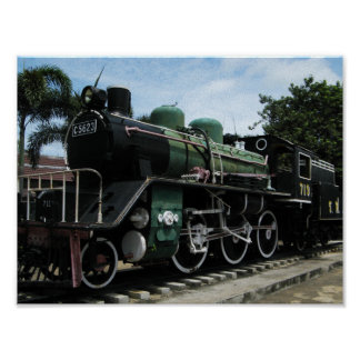 WW2 Steam Train at the River Kwai Bridge Poster
