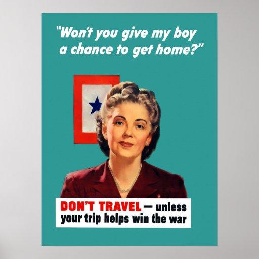 WW2 Travel Poster