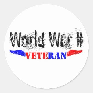 WW2 veteran Round Sticker