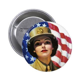 WW2 Wartime Propaganda Poster 6 Cm Round Badge