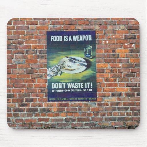 WW2 Wartime Propaganda Poster Mouse Pads