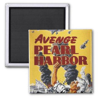 WW2 Wartime Propaganda Poster Square Magnet