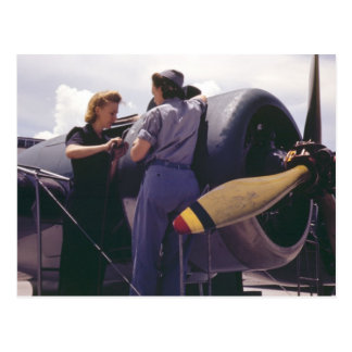 WW2 Women Aviation Mechanics Post Card