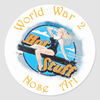 WW 2 Nose Art Round Sticker