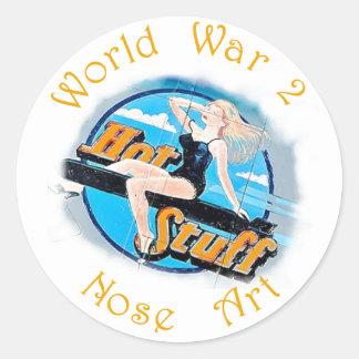 WW 2 Nose Art Round Sticker