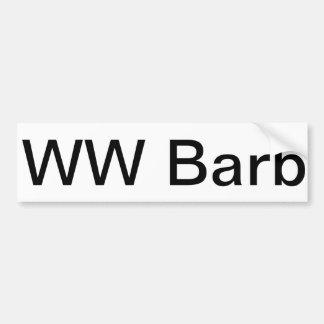WW Barb Bumper Sticker