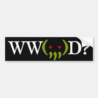 WW Cthulhu Do? v2 sticker Bumper Sticker