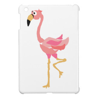 WW- Funny Flamingo Primitive Art Cartoon Cover For The iPad Mini
