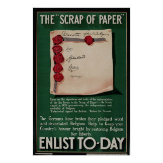 "WW I Poster The ""Scrap Of Paper"""