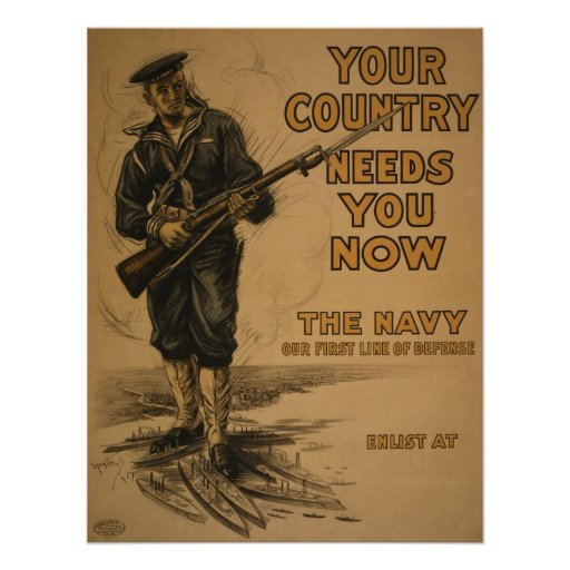 WW I Your Country Needs You Poster