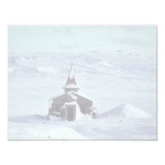 WW II Church in Winter on Amchitka Island Personalized Invitation
