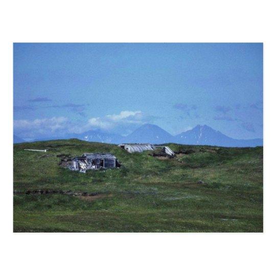 WW II Quonset Hut on Amchitka Island Postcard
