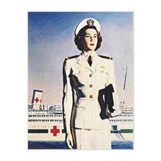 WW ll Navy Nurse Wrapped Canvas Gallery Wrapped Canvas