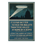 """WWI British Army recruitment poster 20""""x30"""""""